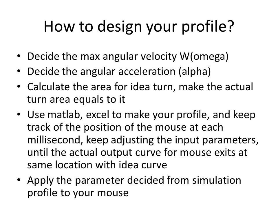 How to design your profile