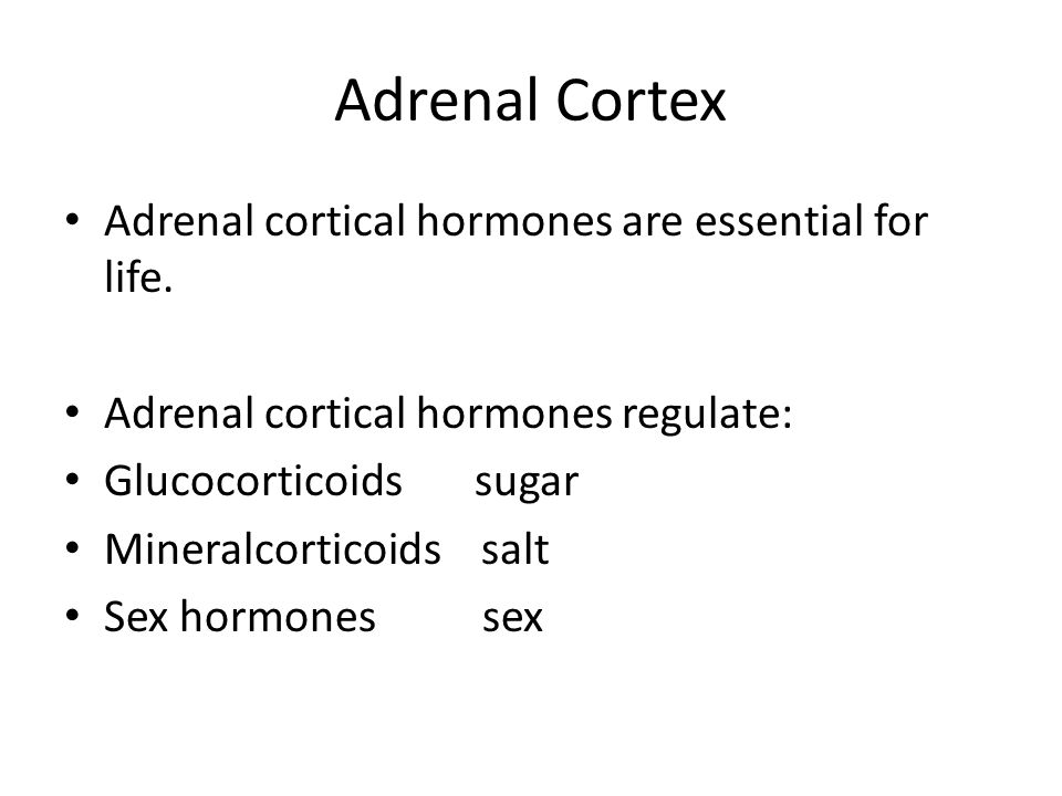 Adrenal Cortex Adrenal cortical hormones are essential for life.