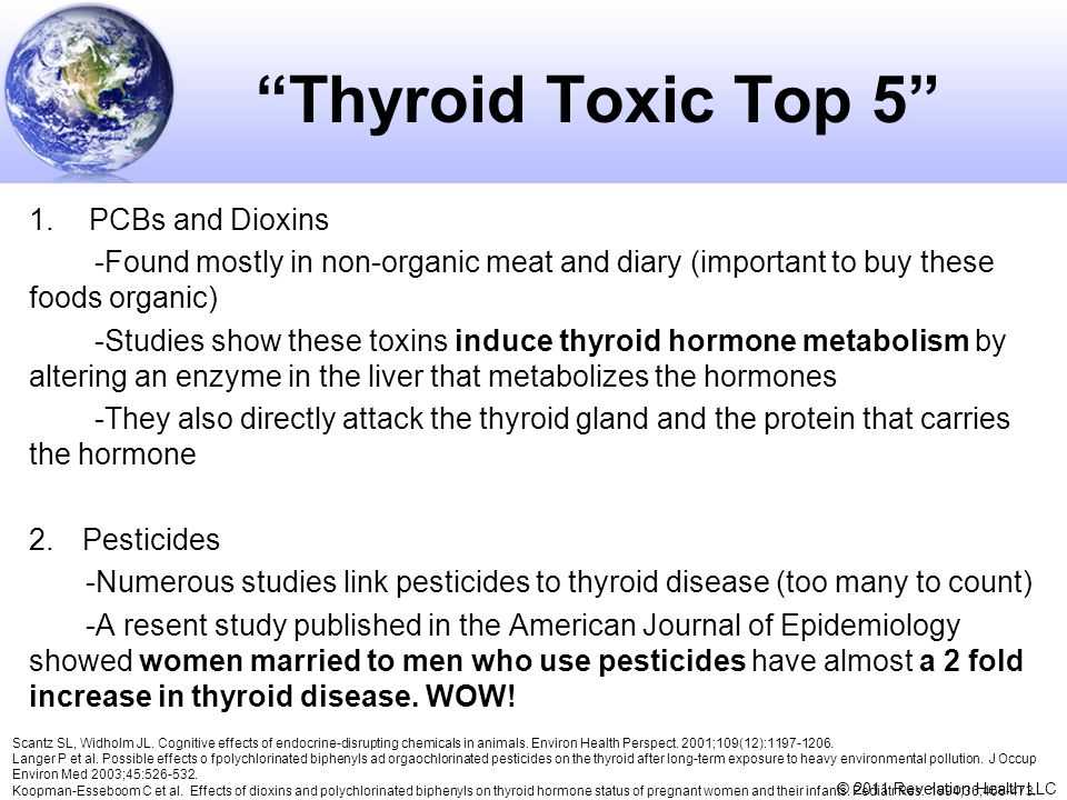 Thyroid Toxic Top 5 PCBs and Dioxins