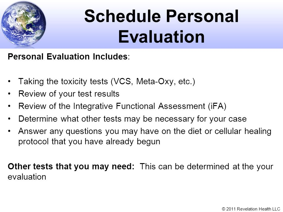 Schedule Personal Evaluation