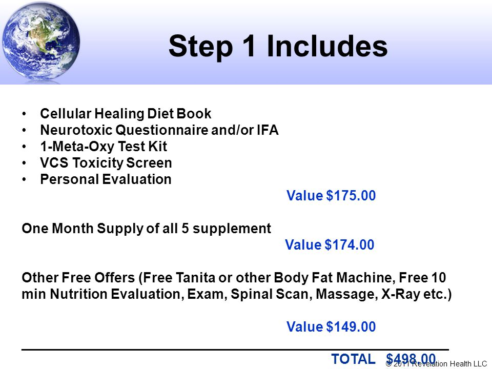 Step 1 Includes Cellular Healing Diet Book