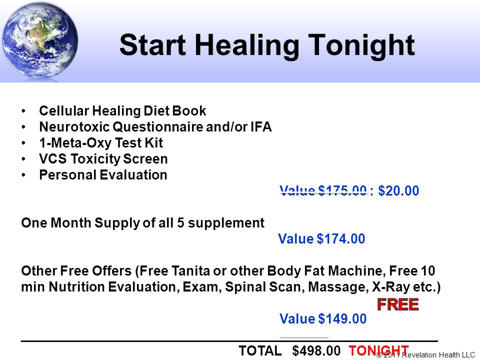 Start Healing Tonight FREE Cellular Healing Diet Book