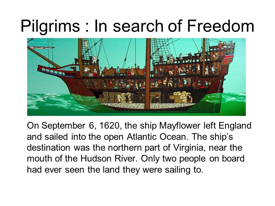 Pilgrims : In search of Freedom