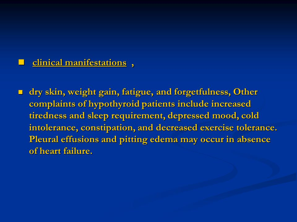 clinical manifestations ,