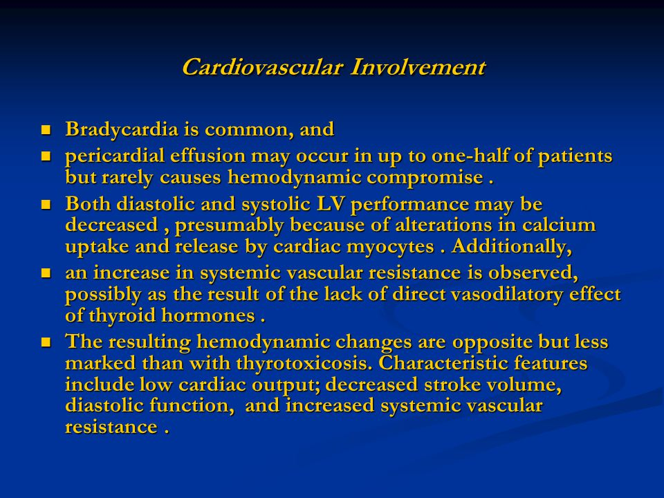 Cardiovascular Involvement