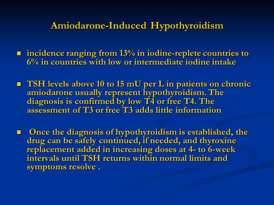 Amiodarone-Induced Hypothyroidism