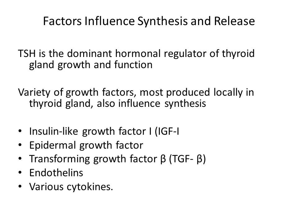 Factors Influence Synthesis and Release