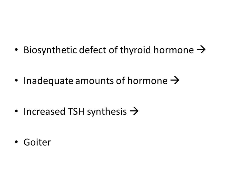 Biosynthetic defect of thyroid hormone 