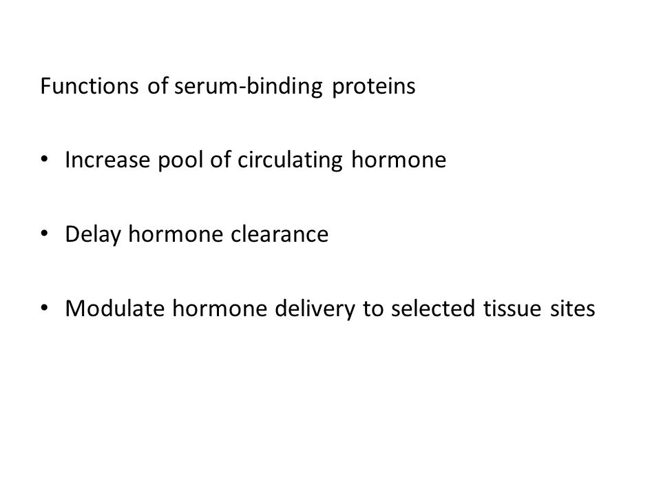 Functions of serum-binding proteins