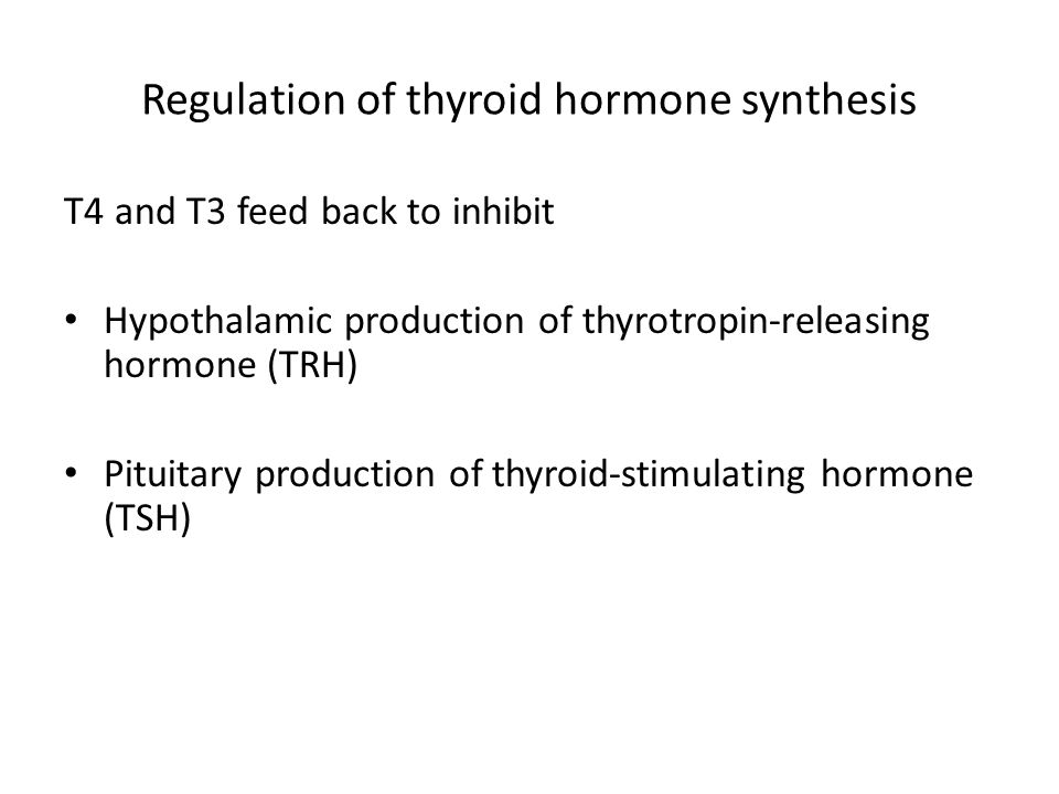 Regulation of thyroid hormone synthesis