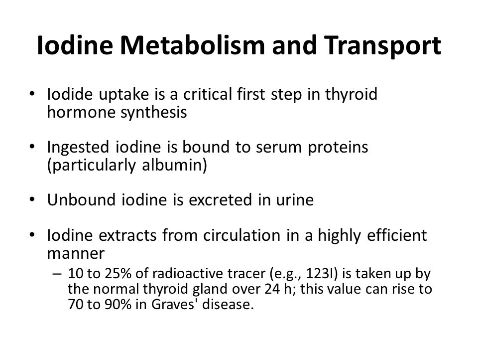 Iodine Metabolism and Transport