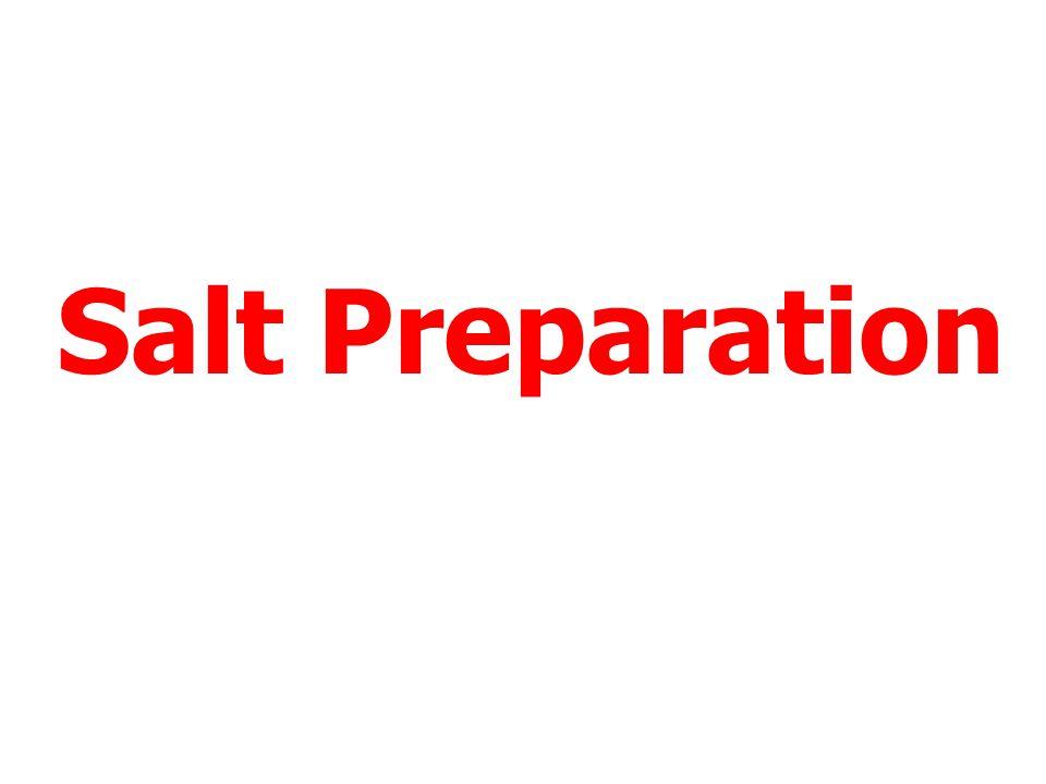 Salt Preparation