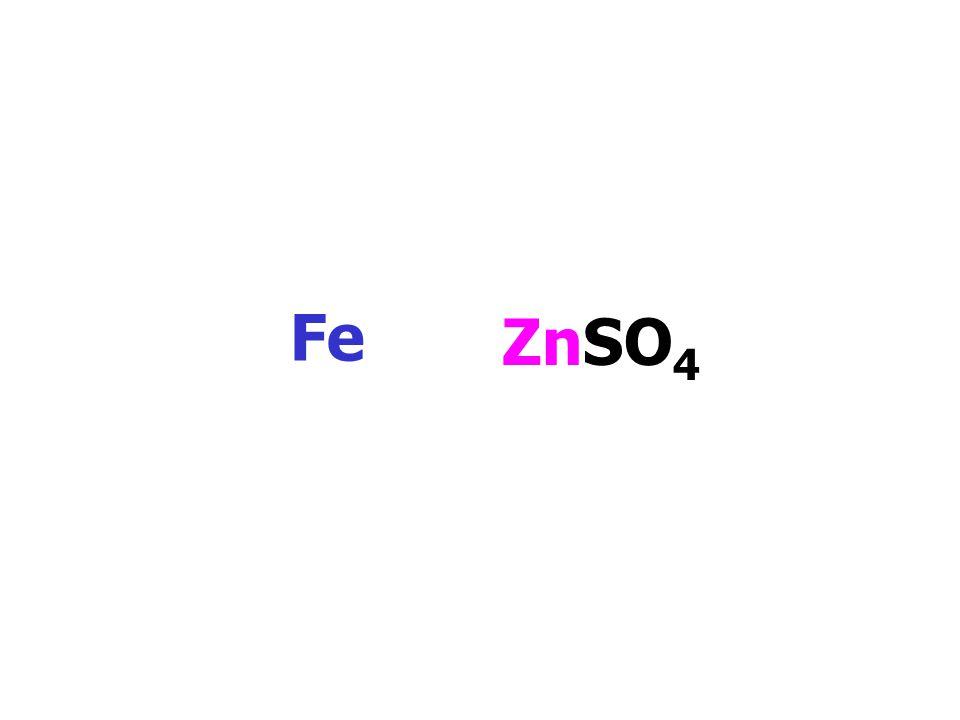 Fe ZnSO4