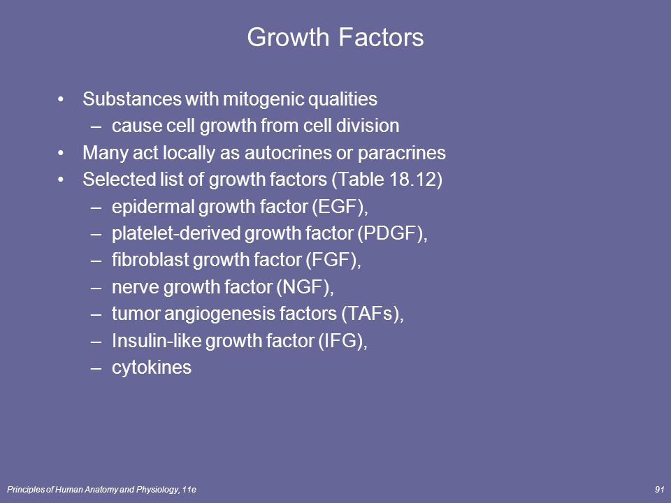 Growth Factors Substances with mitogenic qualities