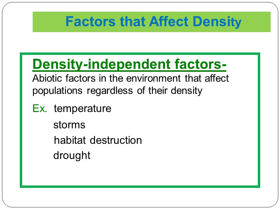 Factors that Affect Density