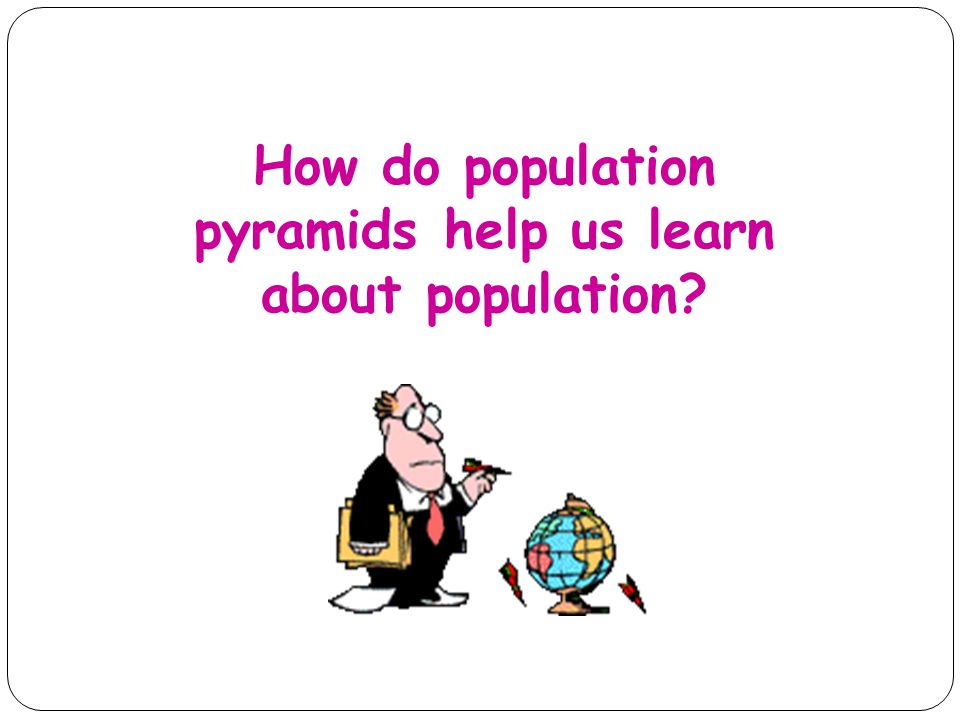 How do population pyramids help us learn about population