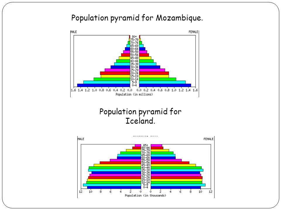Population pyramid for Mozambique.