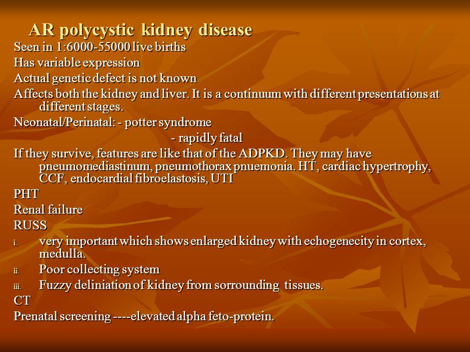 AR polycystic kidney disease