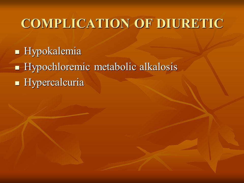 COMPLICATION OF DIURETIC