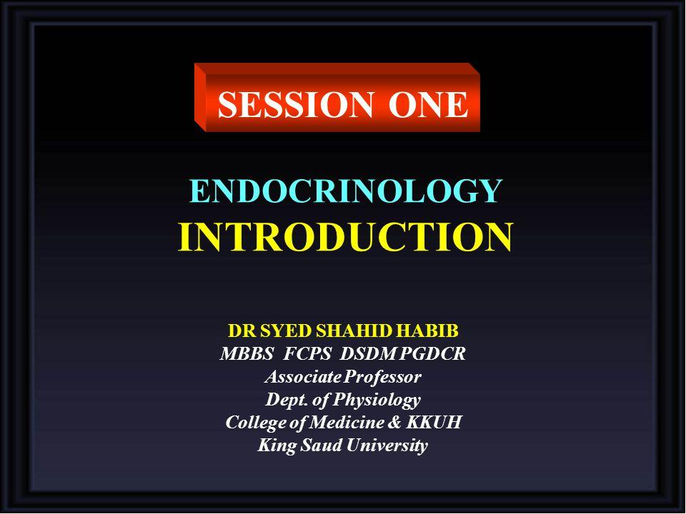 ENDOCRINOLOGY INTRODUCTION