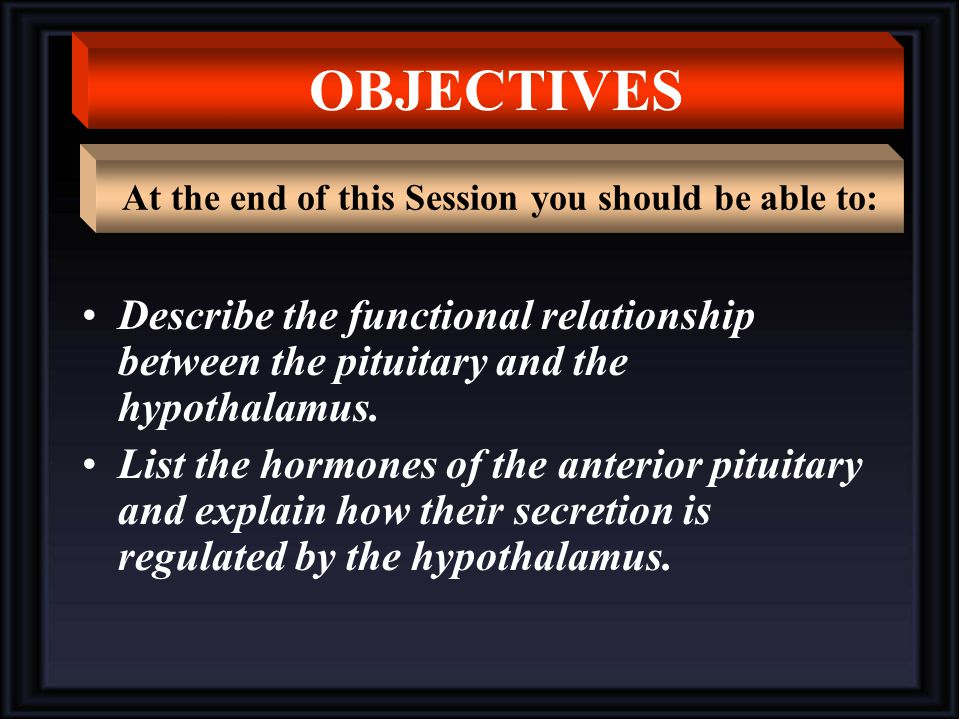 At the end of this Session you should be able to: