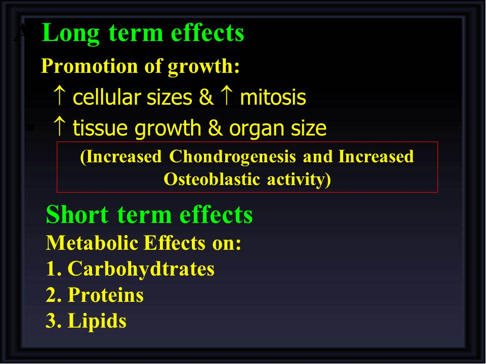 (Increased Chondrogenesis and Increased Osteoblastic activity)