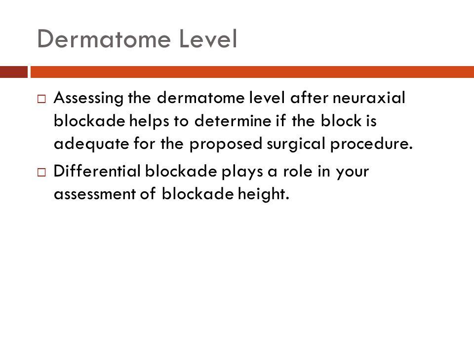 Dermatome Level