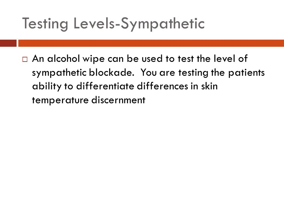 Testing Levels-Sympathetic