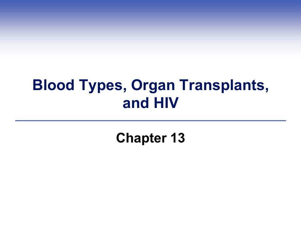 Blood Types, Organ Transplants, and HIV