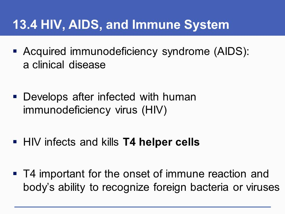 13.4 HIV, AIDS, and Immune System