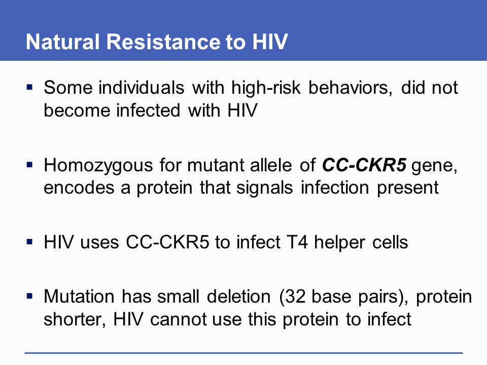 Natural Resistance to HIV