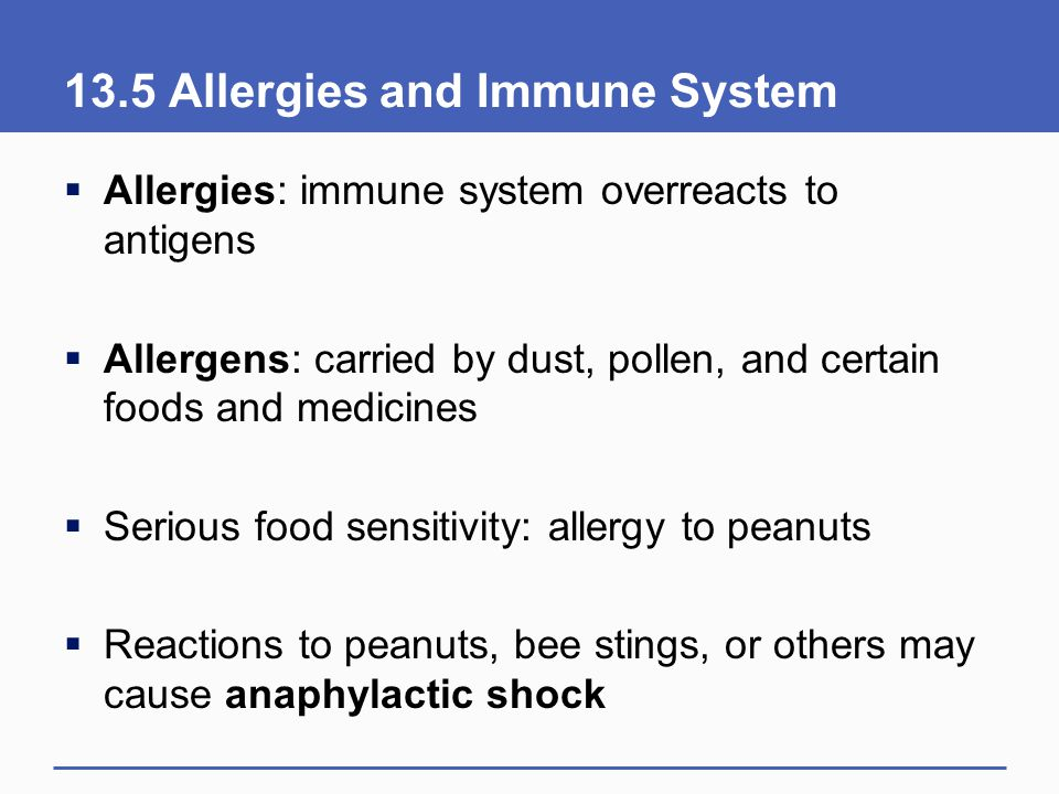 13.5 Allergies and Immune System