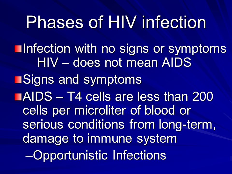 Phases of HIV infection