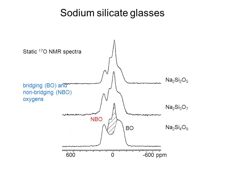 Sodium silicate glasses