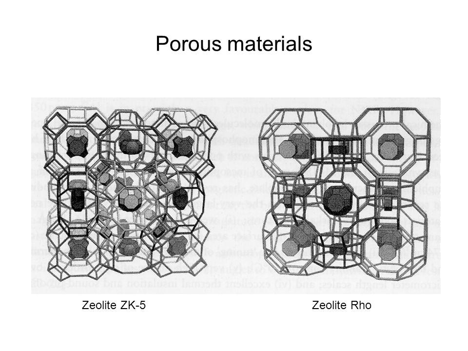 Porous materials Zeolite ZK-5 Zeolite Rho