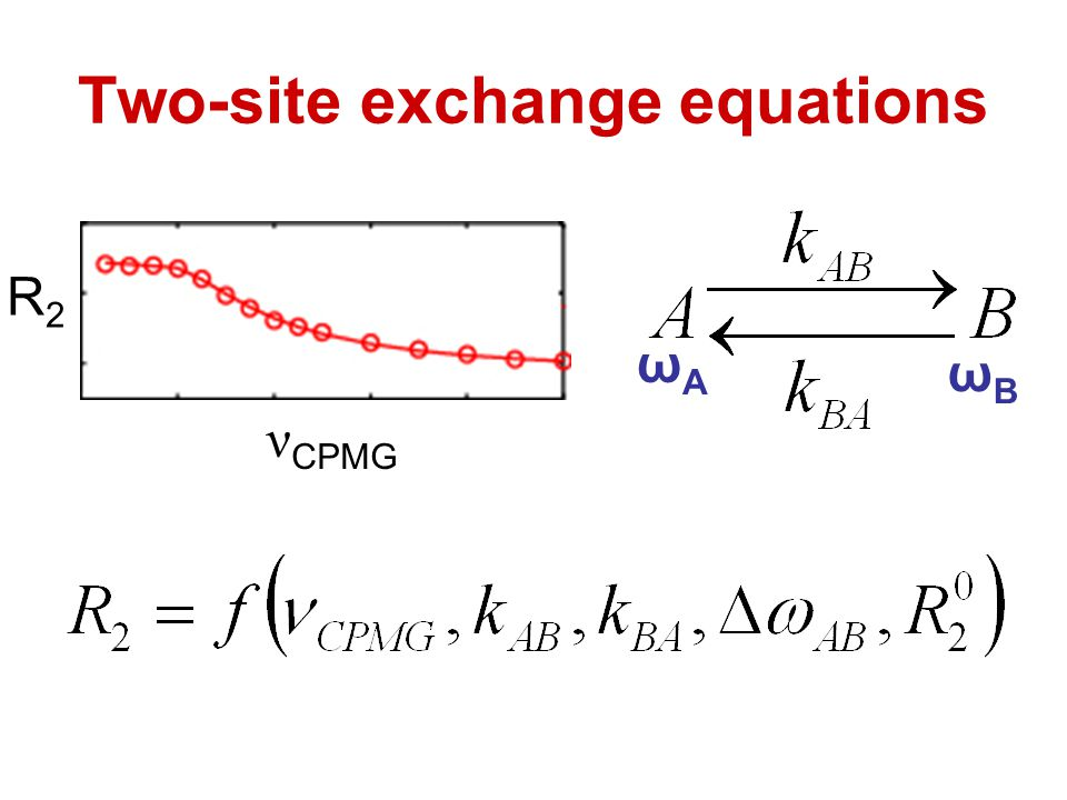 Two-site exchange equations
