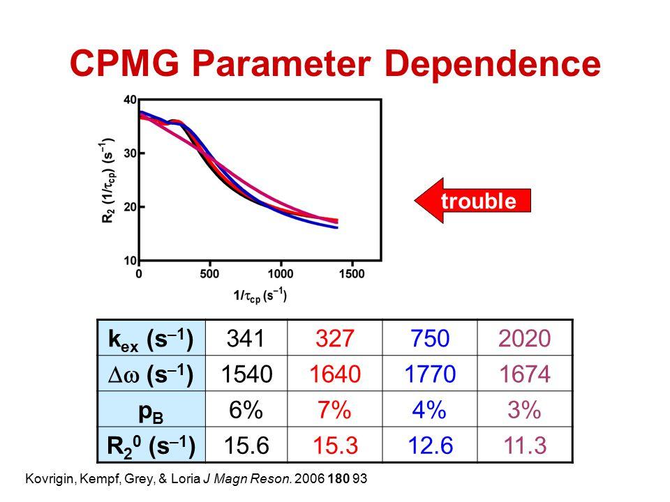 CPMG Parameter Dependence