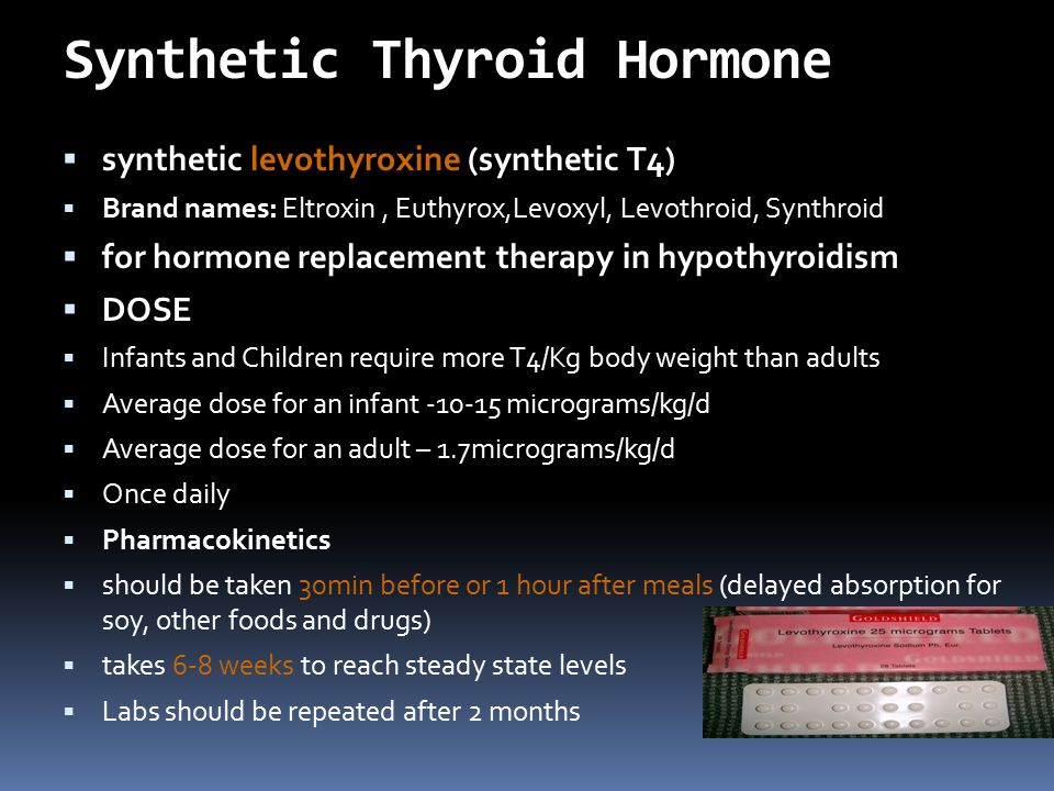 Synthetic Thyroid Hormone