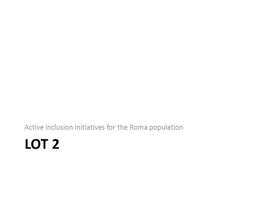 Active inclusion initiatives for the Roma population