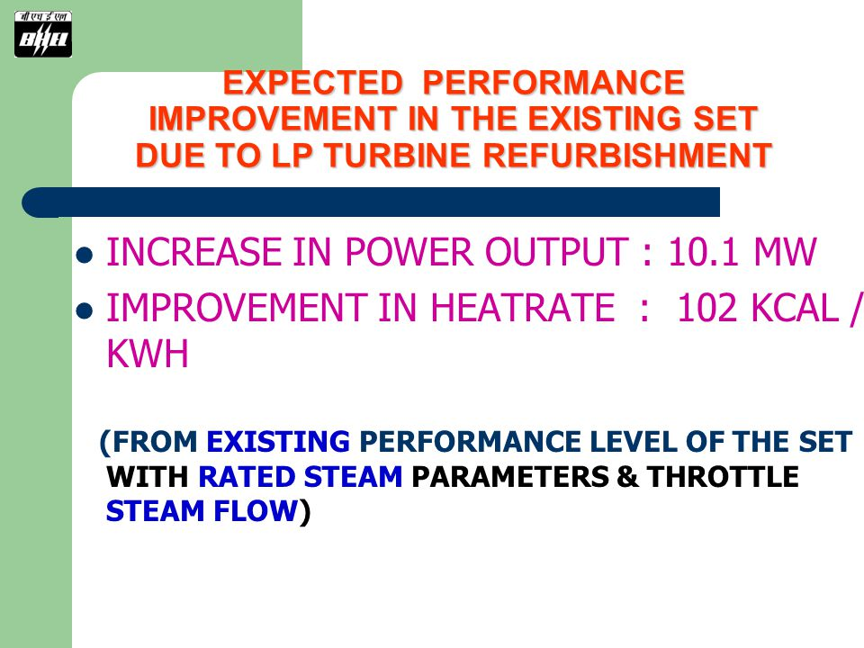 INCREASE IN POWER OUTPUT : 10.1 MW