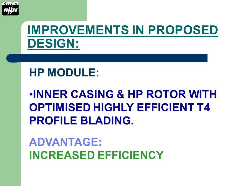 IMPROVEMENTS IN PROPOSED DESIGN: