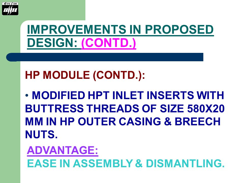 IMPROVEMENTS IN PROPOSED DESIGN: (CONTD.)