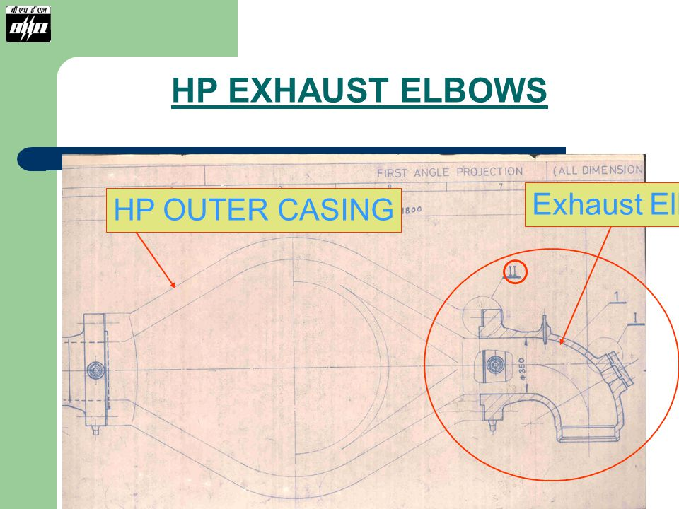 HP EXHAUST ELBOWS Exhaust Elbow HP OUTER CASING