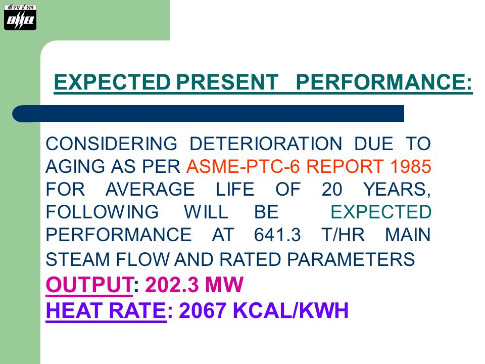 EXPECTED PRESENT PERFORMANCE: