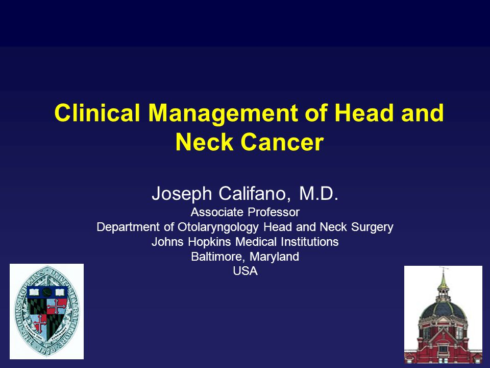 Clinical Management of Head and Neck Cancer