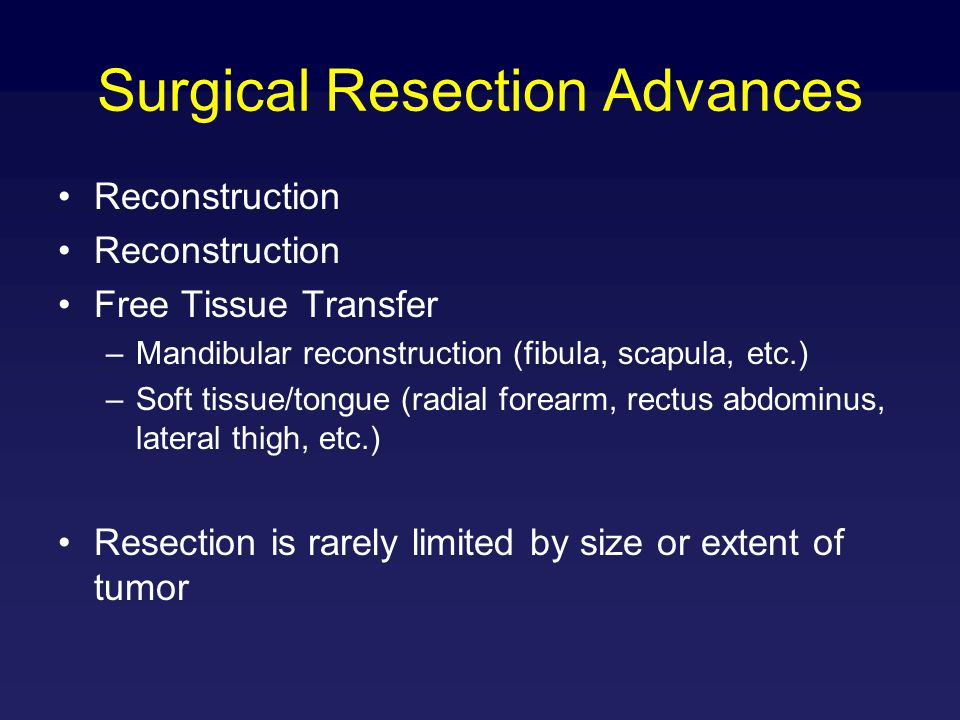 Surgical Resection Advances