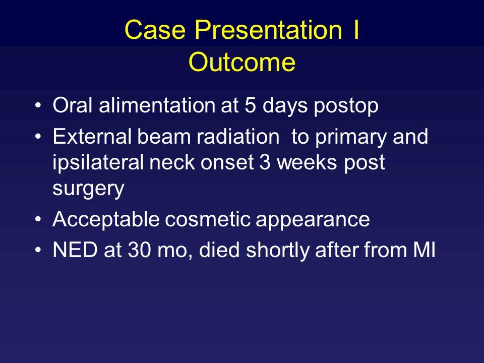 Case Presentation I Outcome