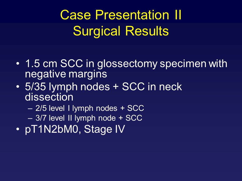Case Presentation II Surgical Results