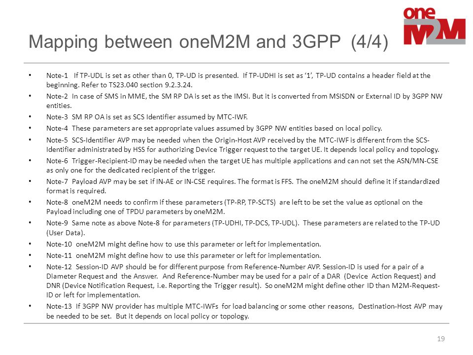 Mapping between oneM2M and 3GPP (4/4)