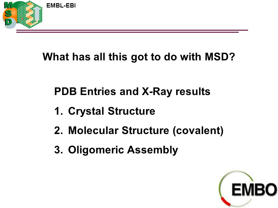What has all this got to do with MSD